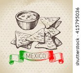 mexican traditional food... | Shutterstock .eps vector #415795036