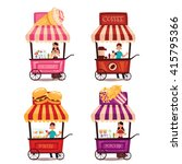 fast food cart  vector cartoon... | Shutterstock .eps vector #415795366