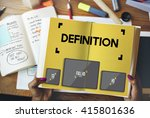 definition dictionary meaning... | Shutterstock . vector #415801636