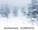 beautiful winter scene... | Shutterstock . vector #415805242