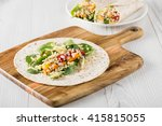 grilled vegetables wraps with...