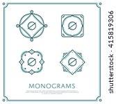 line letter o monogram. vector... | Shutterstock .eps vector #415819306