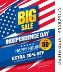 independence day sale banner... | Shutterstock .eps vector #415824172