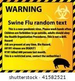 swine flu warning background  ... | Shutterstock .eps vector #41582521