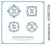 line letter z monogram. vector... | Shutterstock .eps vector #415827226