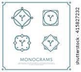 line letter y monogram. vector... | Shutterstock .eps vector #415827232
