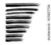 vector set of grunge brush... | Shutterstock .eps vector #415827736