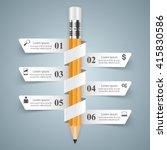 3d infographic design template... | Shutterstock .eps vector #415830586