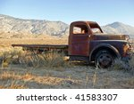 an old flatbed truck in a high... | Shutterstock . vector #41583307