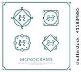 line letter h monogram. vector... | Shutterstock .eps vector #415834882