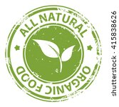 all natural organic food green... | Shutterstock .eps vector #415838626