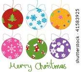 christmas decorative ball made... | Shutterstock .eps vector #41583925