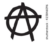 anarchy symbol drawing. | Shutterstock .eps vector #415846096