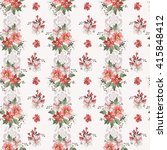 seamless vintage flower pattern | Shutterstock .eps vector #415848412