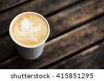 cup of coffee to go on the... | Shutterstock . vector #415851295
