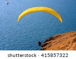 Colorful Hang Glider In Sky...