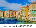 grand canal in venice | Shutterstock . vector #415857568
