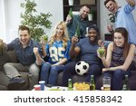 best friends meeting during the ... | Shutterstock . vector #415858342