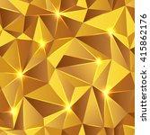 seamless texture gold triangle | Shutterstock .eps vector #415862176