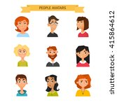 colorful vector people avatar... | Shutterstock .eps vector #415864612