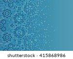 disintegration mosaic template. ... | Shutterstock .eps vector #415868986