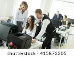 business people working... | Shutterstock . vector #415872205