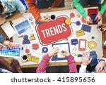 trends social media update... | Shutterstock . vector #415895656