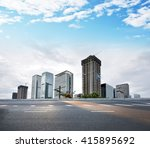 modern building and  city road  | Shutterstock . vector #415895692