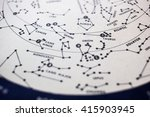 A Detail Of A Star Map Showing...