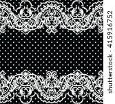 white vintage lace crochet... | Shutterstock .eps vector #415916752