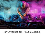charismatic disc jockey at the... | Shutterstock . vector #415922566