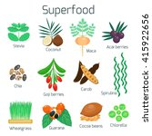 Superfood Set. Collection Of...