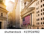 famous wall street and the... | Shutterstock . vector #415926982