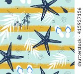 summer seamless pattern with... | Shutterstock .eps vector #415927156