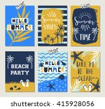 summer cards | Shutterstock .eps vector #415928056