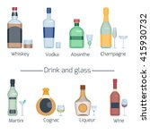 set of different alcoholic... | Shutterstock .eps vector #415930732