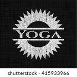 yoga written on a chalkboard | Shutterstock .eps vector #415933966
