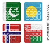 nation flag. calculator... | Shutterstock . vector #415937722