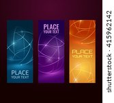 three abstract banners... | Shutterstock .eps vector #415962142