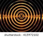 Gold Water Resonance Background