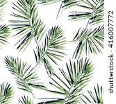 palm leaves pattern. seamless ... | Shutterstock .eps vector #416007772