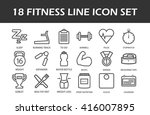 line art fitness and sport icon ... | Shutterstock .eps vector #416007895