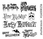 happy halloween day hand drawn...   Shutterstock .eps vector #416008156