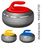 vector illustration of curling... | Shutterstock .eps vector #416014735