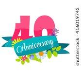 cute template 40 years...   Shutterstock .eps vector #416019742