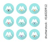 karate suit icons. vector... | Shutterstock .eps vector #416020912