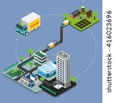delivery concept. flat 3d... | Shutterstock .eps vector #416023696