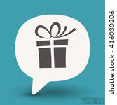 pictograph of gift | Shutterstock .eps vector #416030206