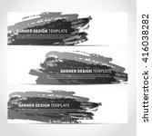 banners. set of trendy black... | Shutterstock .eps vector #416038282