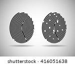 fingerprint icons vector set.